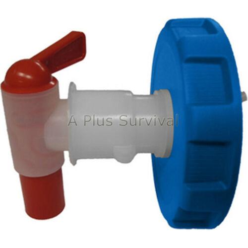 Eau de brique ventless Spigot avec bleu couvercle joint et écrou pour waterbrick conteneurs