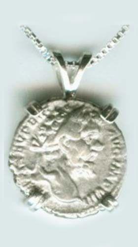 AD196 Silver Roman Denarius (Coin) Emperor Septimius Severus Vota Publica Gods