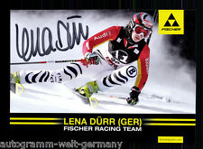 Lena Dürr TOP AK Original Signiert Skialpine + A 56194