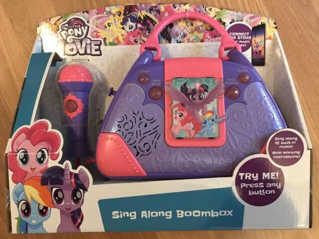 My Little Pony The Movie Sing Along Boombox With Microphone Karaoke