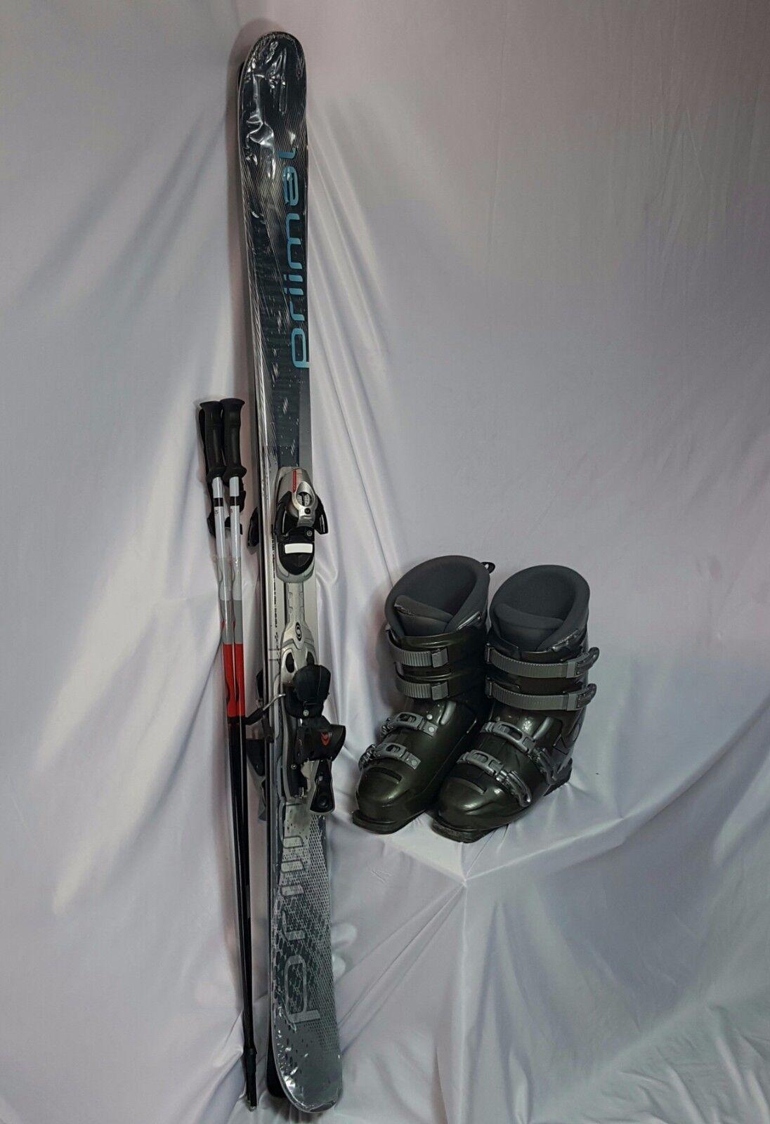 TWIN TIP SKI PKG, Primal 155cm & Poles, Used Used Used Salomon Bdg, Dalbello Stiefel+FITTING c5a034