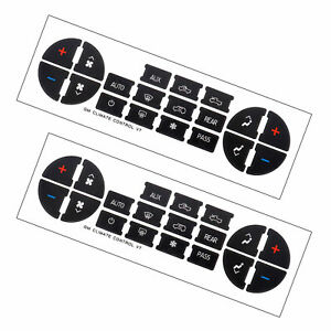 Details about New 2PCs Dash Replacement For 07-14 GM AC Button Repair Kit  Decal Stickers
