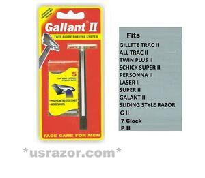 Gallant Razor Non Lubricant Blades Fit Gillette Trac Ii