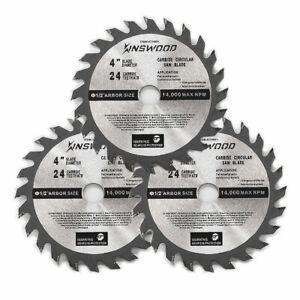 3PC-Circular-Saw-Blade-4-034-1-2-034-1-pc-24T-Cabride-Tripped-for-DeWalt-Makita