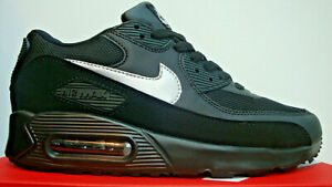 MENS-NIKE-AIR-MAX-90-BLACK-WHITE-SILVER-SWOOSH-TRAINER-NEW-BOXED-UK-SIZES-6-11