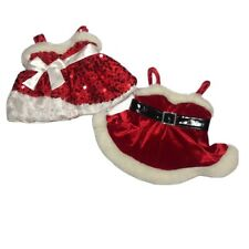 Build-A-Bear Workshop Christmas Lot Clothes Accessories Dresses Santa Red