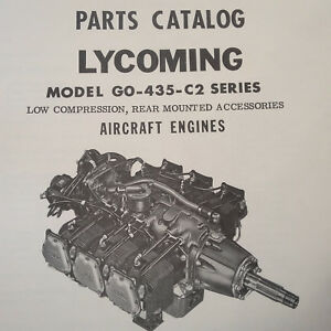 lycoming go 435 c2 series engine parts manual ebay rh ebay com Lycoming Engine Schematics Lycoming Engine Parts Catalog