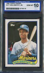 1989-Topps-Traded-41T-KEN-GRIFFEY-JR-Rookie-RC-Mariners-HOF-ISA-GEM-MINT