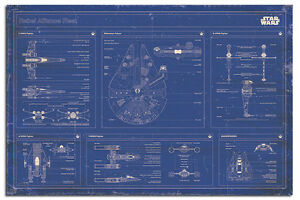 Star-Wars-Rebel-Alliance-Fleet-Blueprint-Poster-New-Laminated-Available
