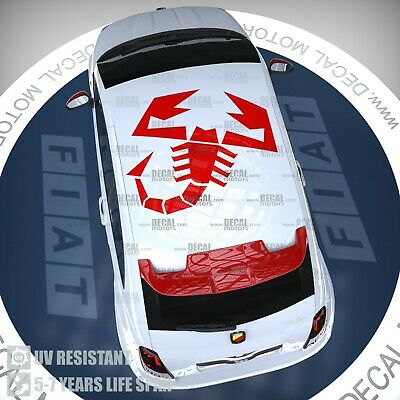 Multiple Colours Abarth Emblem Logo Decal Sticker Graphic 595 Spider Fiat