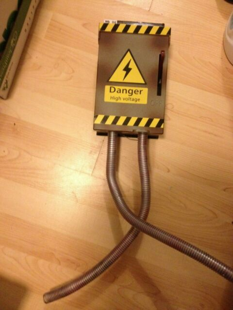 animated danger high voltage fuse box wiggling cables prop ebay RV Fuse Box animated danger high voltage fuse box wiggling cables prop