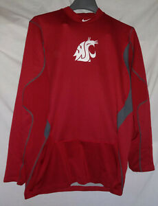 Washington-State-Cougars-Baseball-Nike-Pro-Combat-Fitted-Player-Worn-Game-Used-L