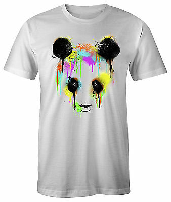 t-shirt moto rock motiv herren bike Panda hemd druck sols music polyester