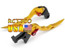 Gold Blade Brake Clutch Levers For Yamaha YZF R6 2005-2012 YZF R1 2004-2008 2005