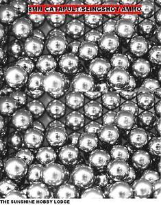 CATAPULT SLINGSHOT AMMO CARBON STEEL BALL BEARINGS HIGH IMPACT