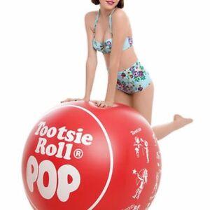Tootsie Roll Pop 3 Ft (environ 0.91 M) Gonflable Piscine Ballon De Plage-tootsieroll Pop Candy Flotteur-afficher Le Titre D'origine Prix ModéRé