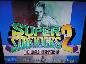 Super Sidekicks 2 SNK MVS Neo Geo Arcade Cartridge Tested Working