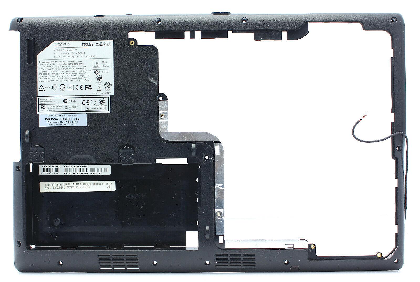 MSI CR620 MS-1681 Laptop Black Bottom Case Cover