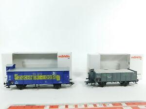 BC626-0-5-2x-Marklin-Initie-H0-AC-Chariot-annees-2000-46159-2001-46037-W