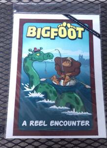 NEW-Bigfoot-Print-A-Reel-Encounter-Printed-in-USA-9x12-Lantern-Press