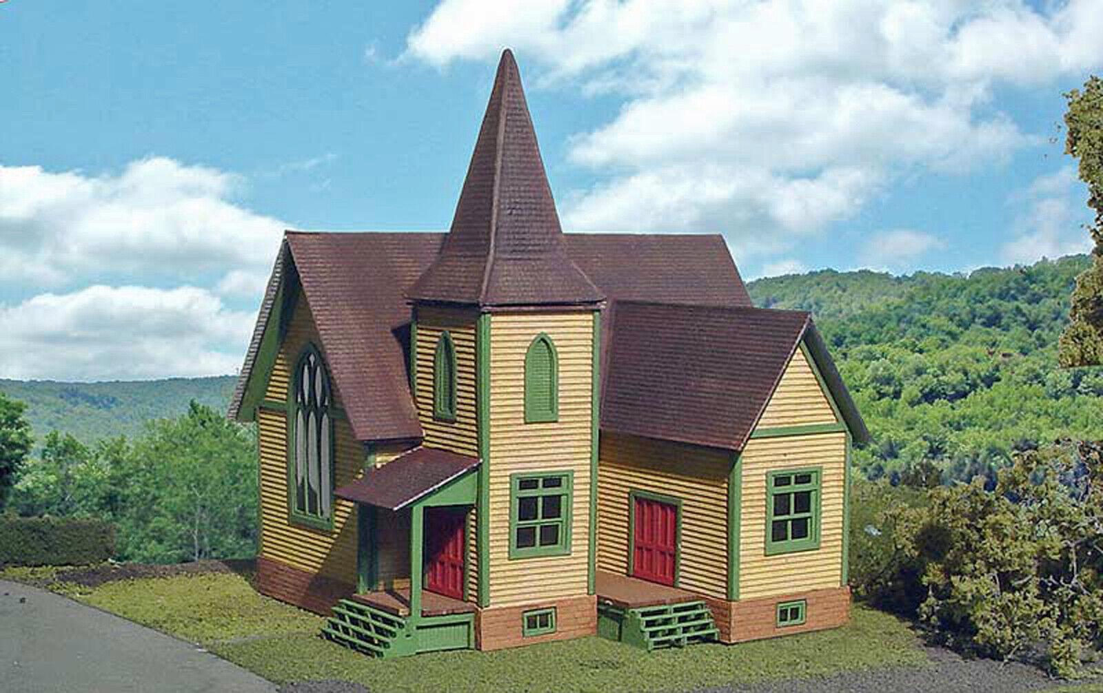 CHURCH HO modello Railstrada Structure costruzione Unpainted Laser-cut Wood Kit LA642