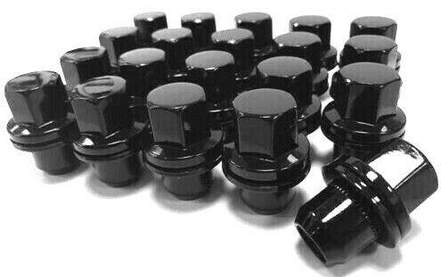 20 x M14x1.50 22mm Hex Gloss Black Alloy Wheel Nuts Bimecc RANGE ROVER SPORT 134