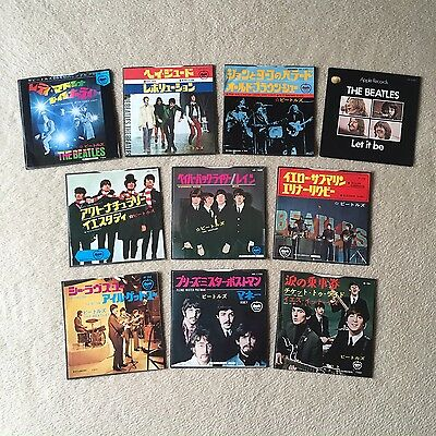 "THE BEATLES Record Collection JAPAN 7"" RARE Singles LOT Paperback Writer MONO +"