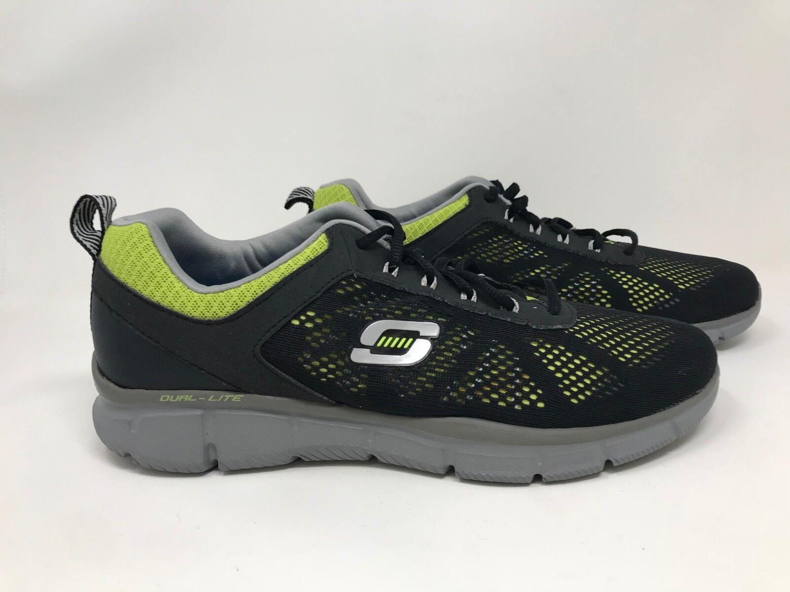 New! Mens Skechers Equalizer Deal Maker Shoes 51358 Black/Lime I64 best-selling model of the brand