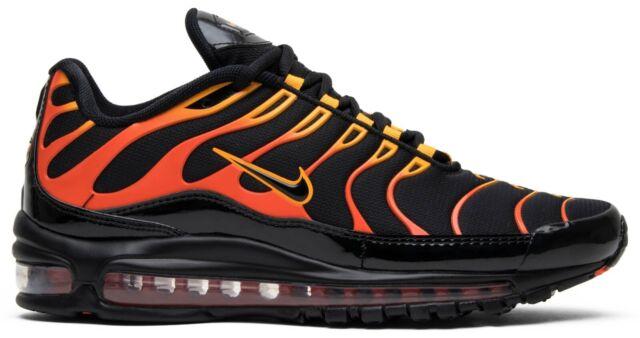 orange and black air max 97