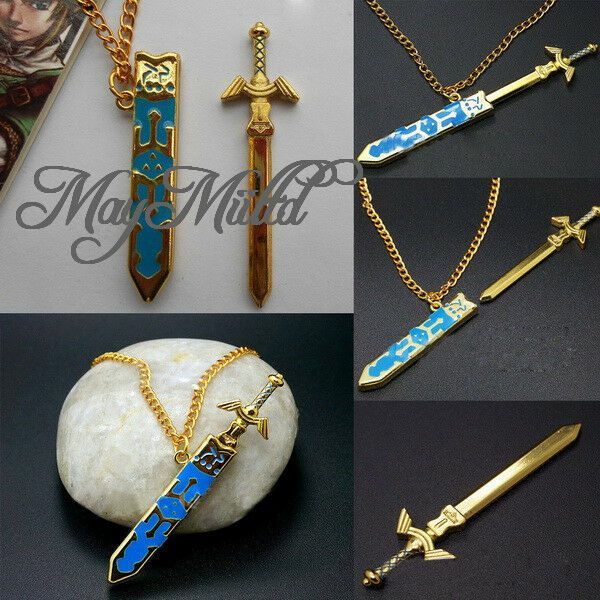 Selling Legend Of Zelda Removable Master Sword Necklace Pendant Free Ship CA