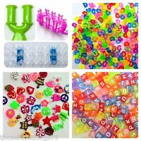 Loom band accessories charms c clips mini tool beads weaving boards & bands
