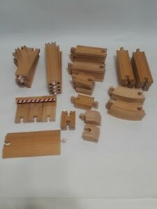 Lot-Of-47-Thomas-Train-Wooden-Railway-Track-Replacement-Pieces-Melissa-amp-Doug