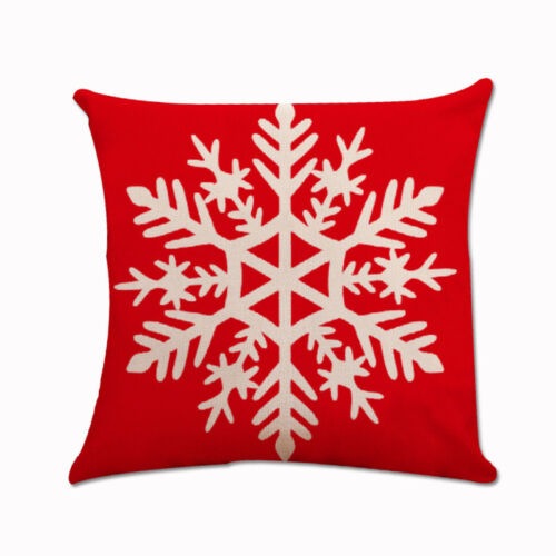 "18/""  Christmas Pattern Cotton Linen Sofa Car Throw Cushion Cover Home Decor"