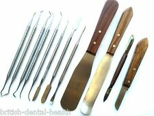 Dental Lab Kit Wax Modelling Carving Tools P.K Thomas Set Plaster Knives Spatula