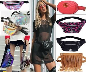 Glitter Bum Bag Travel Waist Fanny Pack Festival Money Belt Wallet Pouch Bags UK