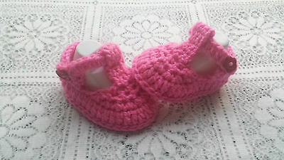 Mano crochet/knitted Bebé-t-shoes ELIGE TAMAÑO Y COLOR