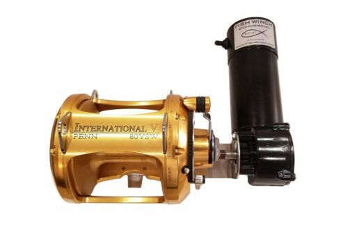 Electric Fishing Reel MOTOR FISH WINCH® Commercial fits SHIMANO TIAGRA 80