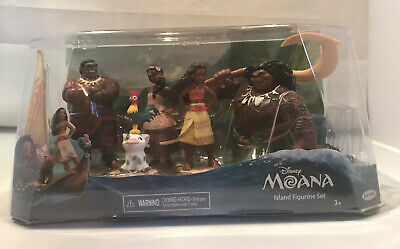 Disney Moana Island Movie Figurine Set Maui Tui Sina Pua Hei Hei 5 Figures New