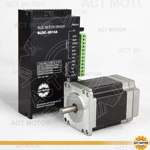 ACT MOTOR GmbH 1PC Nema23 57BLF02 BLDC Motor 125W 3000RPM 24V+1PC BLDC-8015A-5