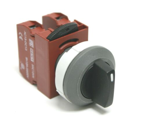 RENY Selector Switch 3 Position Maintained Fit 30 mm /& 22 mm C//W 2 NO 10A 600V