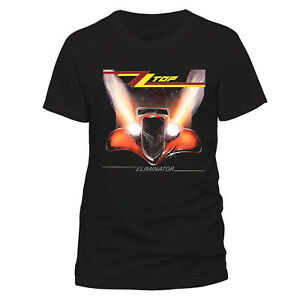 ZZ-Top-T-Shirt-Eliminator-Official-Album-Cover-Mens-Black-NEW-S-M-L-XL-XXL