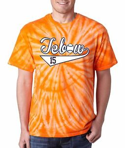 save off 0a014 36957 Details about ORANGE TIE DYE Tim Tebow