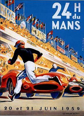 1959 Le Mans 24 Hour Race Poster A3 / A2  Reprint