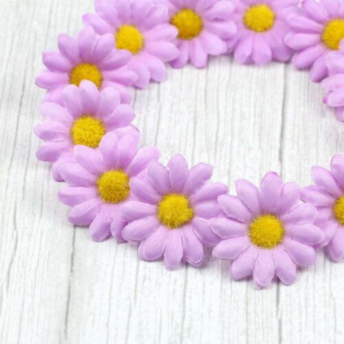 30//50 Artificial Daisy Flower Heads silk Fake Gerbera for Home DIY Wedding Decor