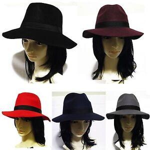 Wome-039-s-Panama-Safari-Fedora-pork-pie-hat-Floppy-Wide-Brim-Wool-High-QT-APN5092
