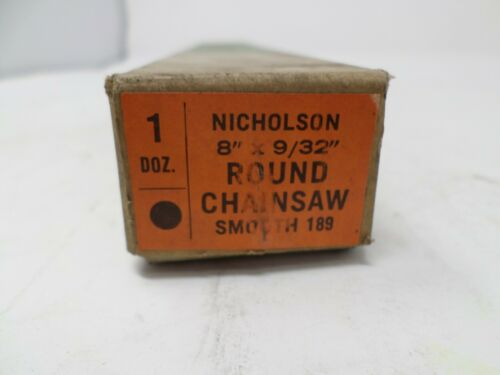 """Vintage Nicholson 8/""""x 9//32/"""" Chain Saw Files NOS Made In USA!"""