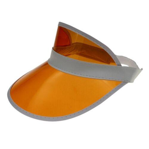 12 Lots Visor Retro Cap Soleil Casquette Visière Transparent Plastique Panneau Casquette