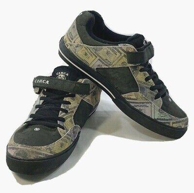 Circa 205 Vulc 8111 480 Mens Black Suede Skate Inspired Sneakers Shoes