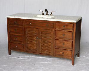 Image Is Loading 60 Inch Cottage Style Single Sink Bathroom Vanity