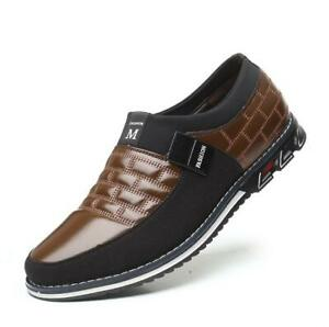 mens casual shoes driving moccasins slip on loafers big